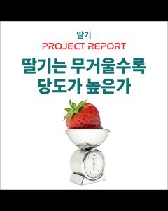 [프로젝트 REPORT] 딸기는 무거울수록 당도가 높은가